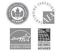 Jordan & Skala Memberships: USGBC, Energy Star, AIA, ICC